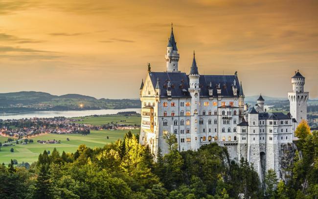 Обои картинки фото города, замок нойшванштайн , германия, neuschwanstein, castle