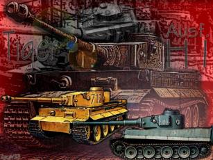 обоя pzkpfw, vi, ausf, н1, тигр, техника, военная