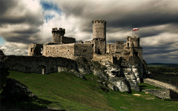 обоя ogrodzieniec castle,  poland, города, замки польши, poland, ogrodzieniec, castle
