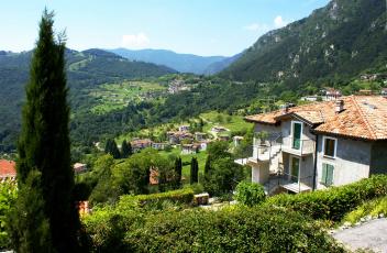 Картинка италия ломбардия vesio города пейзажи горы