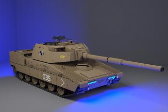 обоя техника, 3d, фон, танк