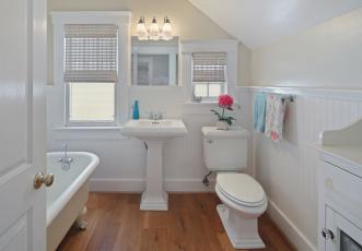 обоя интерьер, ванная и туалетная комнаты, дизайн, стиль, ванная, уют