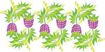 обоя векторная графика, сущность , nature, листья, фон, ягоды