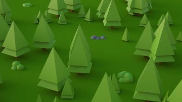 обоя векторная графика, природа , nature, лес, деревья