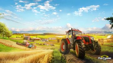 обоя pure farming 2018, видео игры, хозяйство, сельское, ферма, симулятор, pure, farming, 2018
