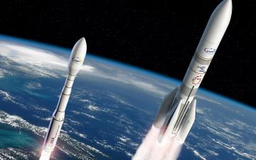 обоя космос, космические корабли,  космические станции, ракета, ариан, 6, ariane-6, vega-c, вега