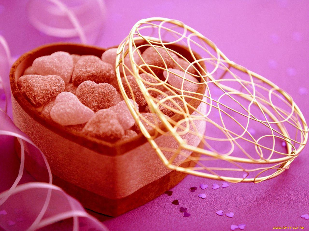 Открытки сладкие конфеты