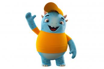 Картинка 3д+графика юмор+ humor funny smile cute monster character