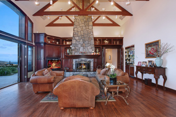 Картинка интерьер гостиная furniture style colors fireplace living room цветы стиль мебель камин