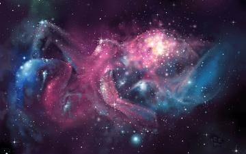 Картинка космос галактики туманности звезды рождение вселенной