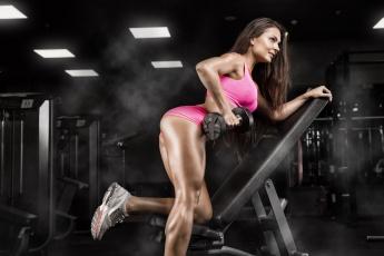 обоя спорт, фитнес, тренажерный, зал, женщина, поза, тренировки