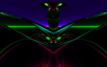 Картинка 3д графика fractal фракталы цвета узор фон