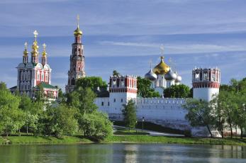 обоя новодевичий монастырь, города, москва , россия, москва, новодевичий, монастырь