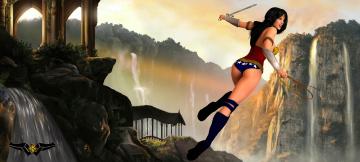 Картинка 3д+графика фантазия+ fantasy взгляд фон девушка