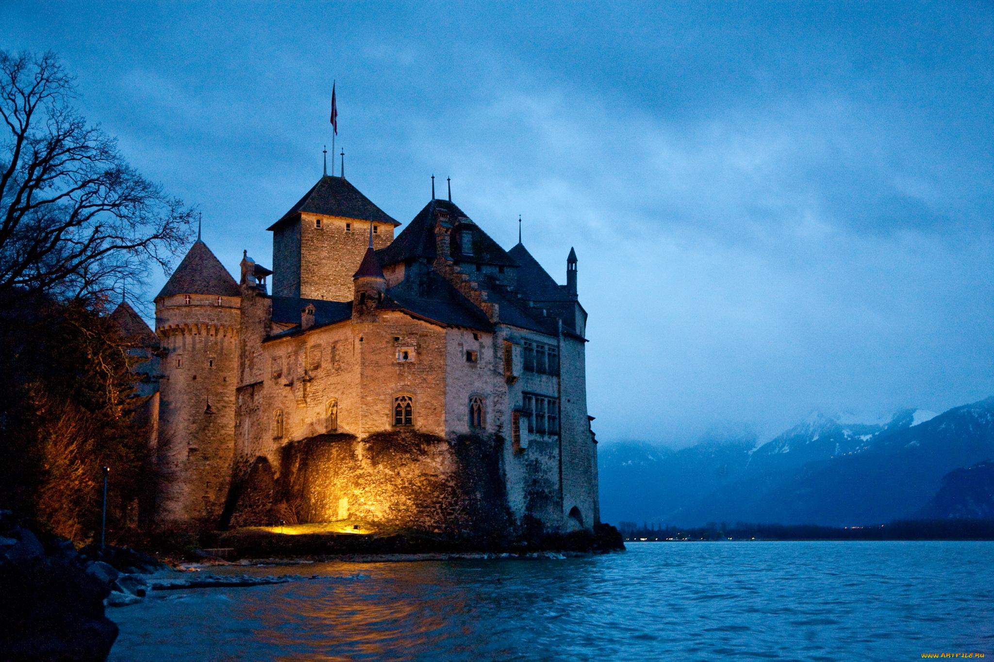 Замок швейцария вечер  № 2569406 без смс