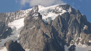 Картинка природа горы снег вершина
