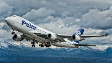 Картинка boeing+747 авиация грузовые+самолёты авиалайнер