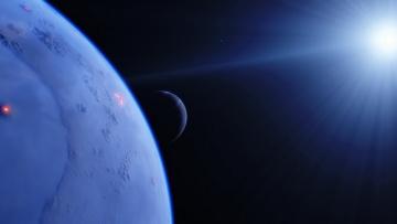 обоя космос, арт, галактика, вселенная, планеты