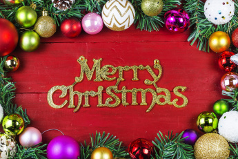 обоя праздничные, - разное , новый год, надпись, шары, новый, год, праздник, подарки