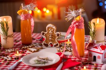 обоя праздничные, угощения, новый, год, новогодние, пряник, праздник