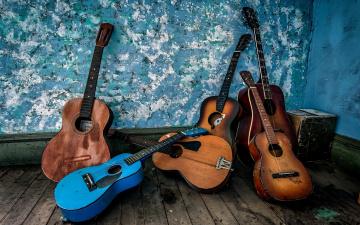 обоя музыка, -музыкальные инструменты, гитары