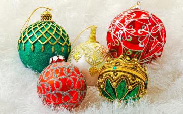 Картинка праздничные шарики узоры