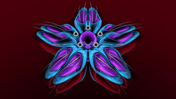 Картинка 3д графика fractal фракталы узор цвет