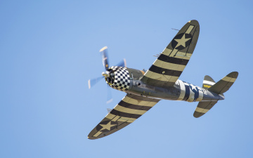 Картинка авиация лёгкие одномоторные самолёты p-47g thunderbolt