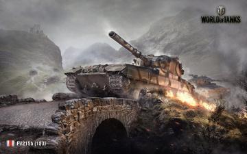 Картинка world+of+tanks видео+игры мир+танков+ fv215b 183
