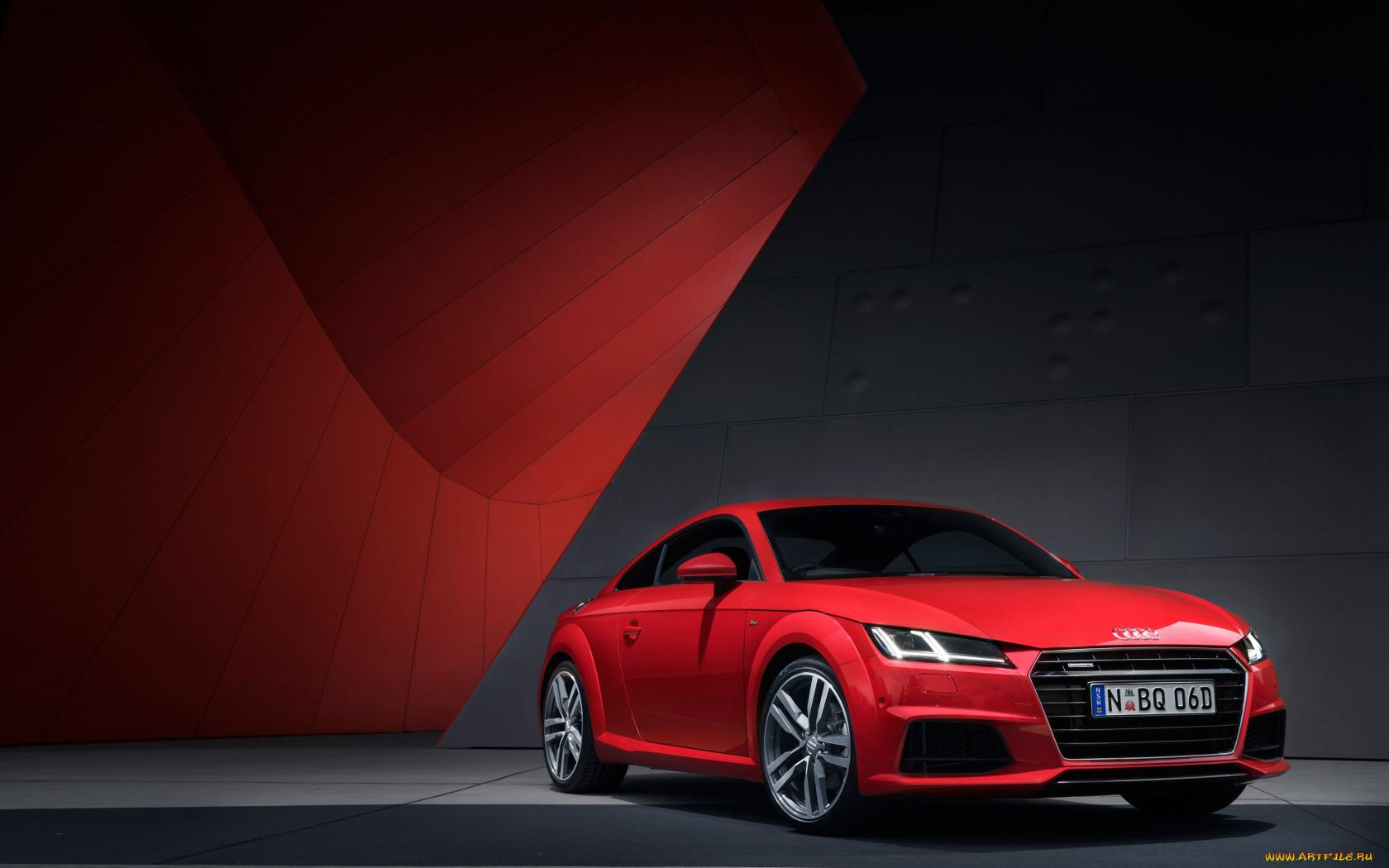 красный черный автомобиль Audi TT red black car  № 2626280 загрузить