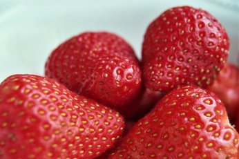 обоя еда, клубника,  земляника, ягоды, макро