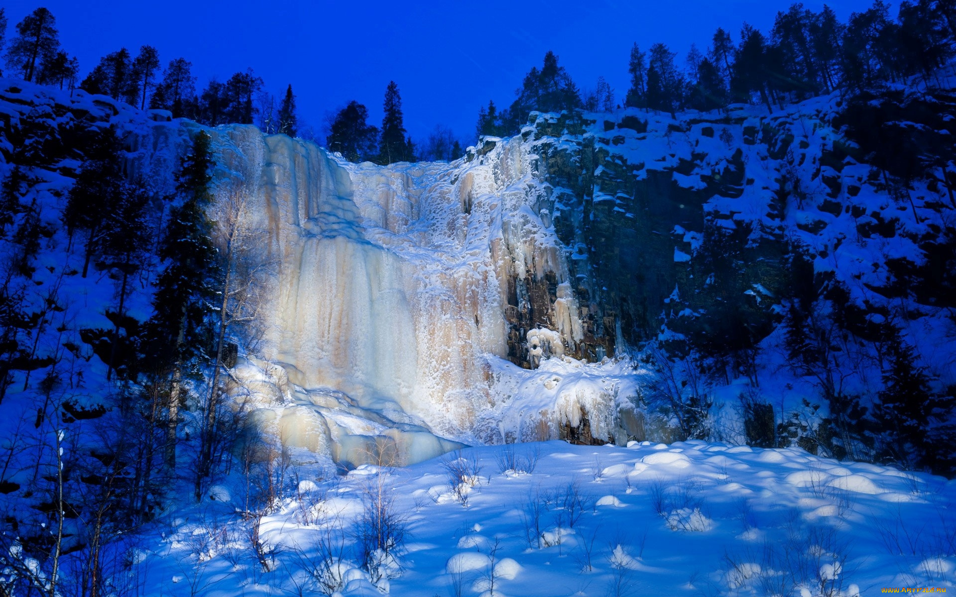 Зимний водопад  № 2946946  скачать