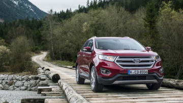 Картинка ford+edge+2017 автомобили ford edge 2017 red