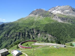 обоя техника, поезда, горы, поезд