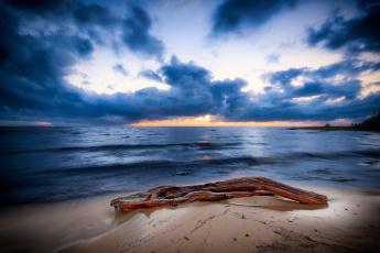 обоя природа, побережье, облака, море