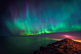 обоя природа, северное сияние, небо, ночь