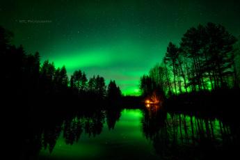 Картинка природа северное+сияние ночь небо