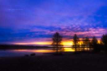 обоя природа, восходы, закаты, закат, ночь, река