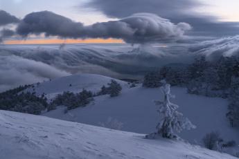 обоя природа, зима, горы