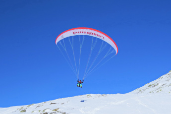 обоя спорт, экстрим, горы, снег, парашют