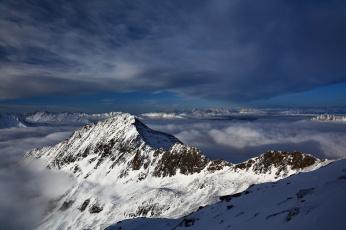 обоя природа, горы, снег, облака