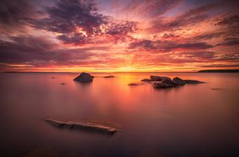 обоя природа, восходы, закаты, закат, вечер, море