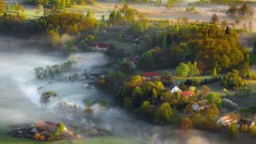 обоя города, - пейзажи, landscape, canon, mist, light, spring, iza, darek