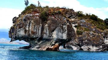 обоя природа, побережье, скала