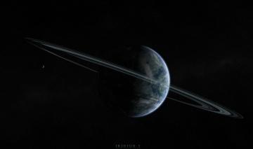 обоя космос, арт, галактика, планета, звезды, вселенная