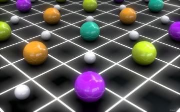 обоя 3д графика, шары , balls, фон, шары