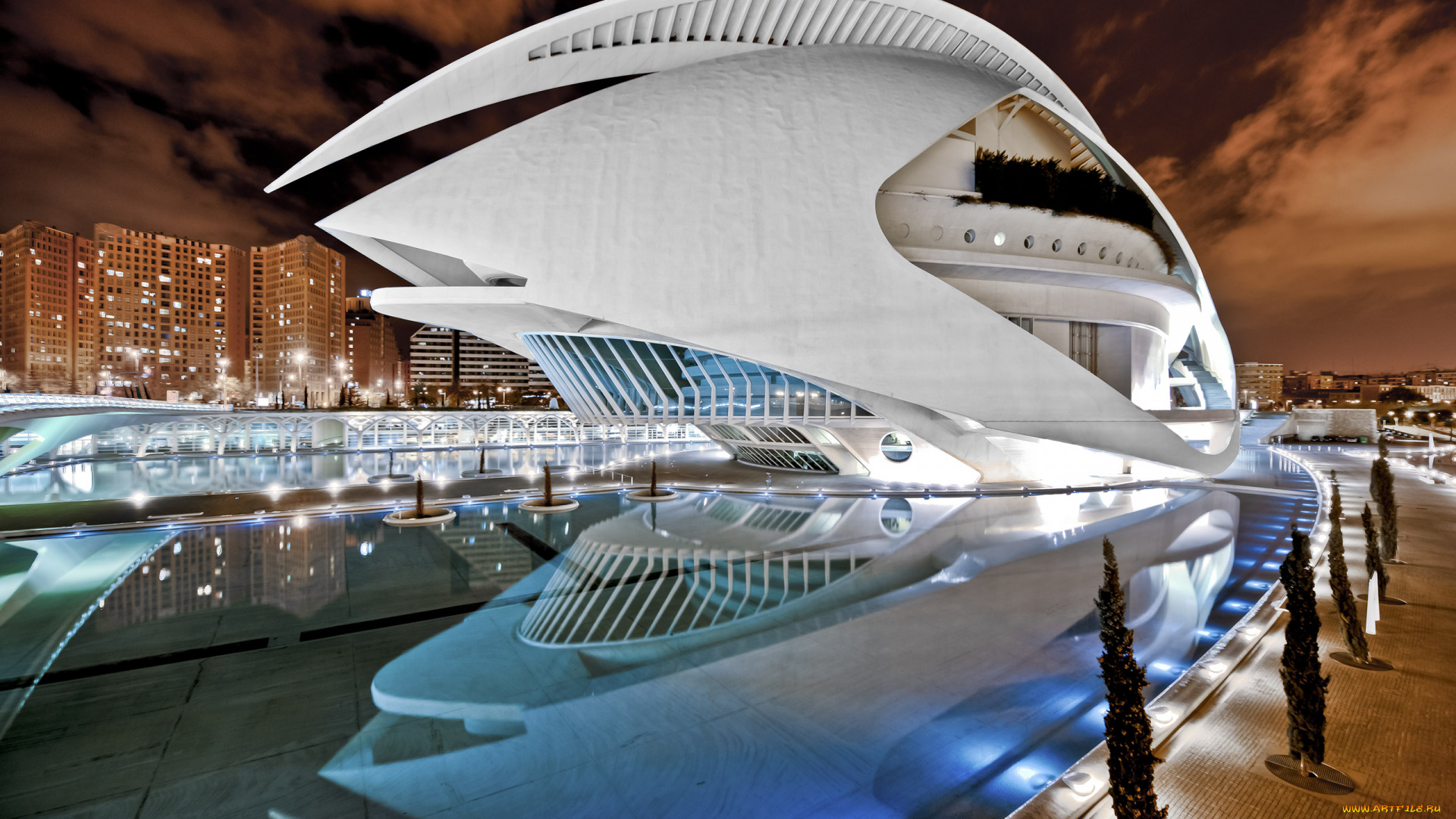 City of Arts and Sciences, Valencia, Spain в хорошем качестве