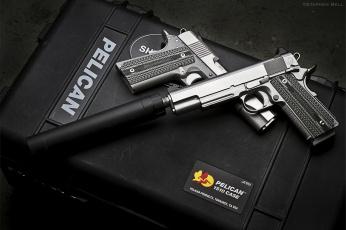 Картинка оружие пистолеты глушителемглушители глушитель