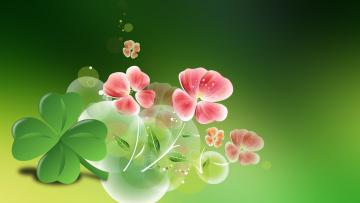 Цветы клевер  № 1341294  скачать