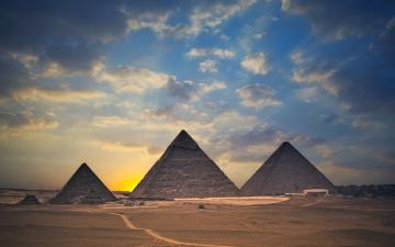 обоя города, - исторические,  архитектурные памятники, памятник, небо, пирамиды, египет